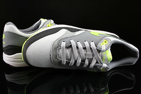 Nike Air Max 1 GS Grau Neongelb Hellgrau Anthrazit Oberschuh