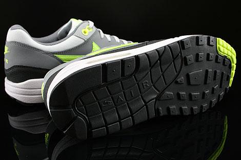 Nike Air Max 1 GS Grau Neongelb Hellgrau Anthrazit Laufsohle