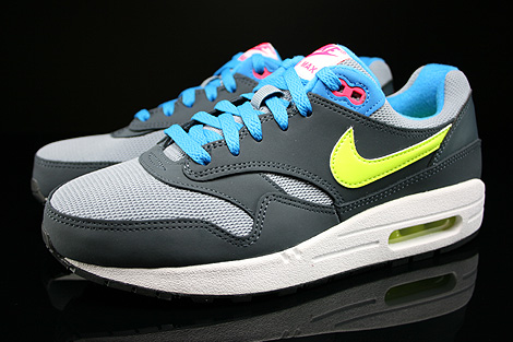 Nike Air Max 1 GS Magnet Grey Volt Hyper Pink Dark Magnet Profile