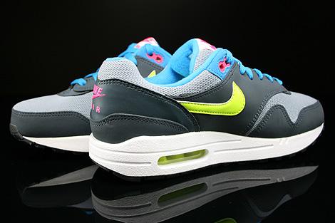 Nike Air Max 1 GS Grau Gelb Blau Pink Dunkelgrau Innenseite