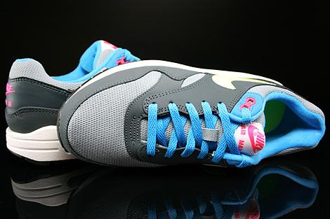 Nike Air Max 1 GS Grau Gelb Blau Pink Dunkelgrau Oberschuh