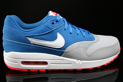 Nike Air Max 1 GS Military Blue White Laser Crimson Wolf Grey