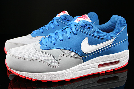 Nike Air Max 1 GS Military Blue White Laser Crimson Wolf Grey Profile