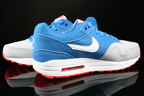 Nike Air Max 1 GS Military Blue White Laser Crimson Wolf Grey Inside