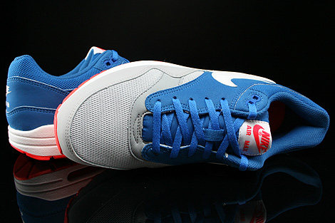 Nike Air Max 1 GS Military Blue White Laser Crimson Wolf Grey Over view