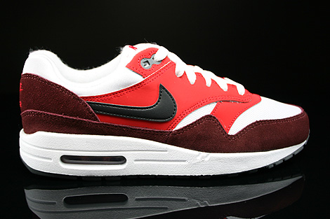 Nike Air Max 1 GS White Black University Red Dark Team Red
