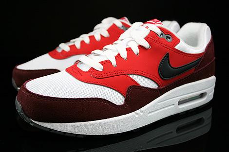 Nike Air Max 1 GS Weiss Schwarz Rot Dunkelrot Seitendetail