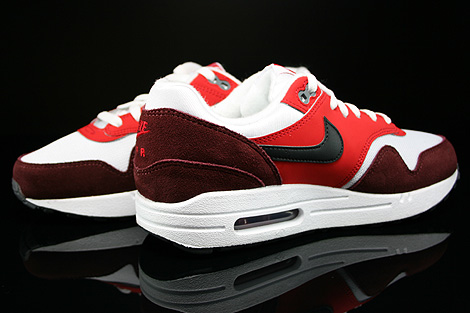 Nike Air Max 1 GS White Black University Red Dark Team Red Inside