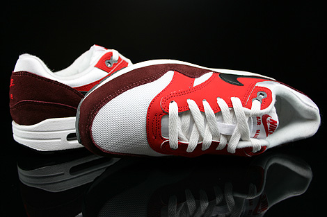 Nike Air Max 1 GS White Black University Red Dark Team Red Over view