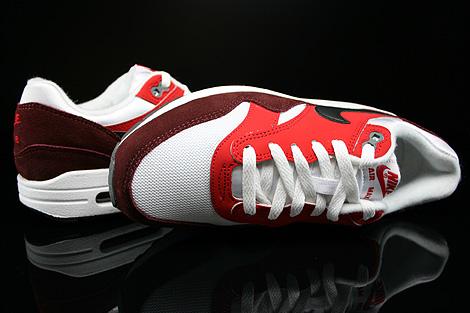 Nike Air Max 1 GS Weiss Schwarz Rot Dunkelrot Oberschuh