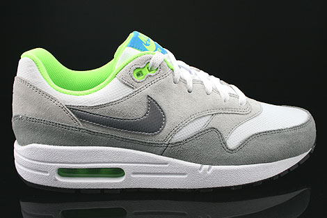 Nike Air Max 1 GS White Metallic Cool Grey Neutral Grey Black