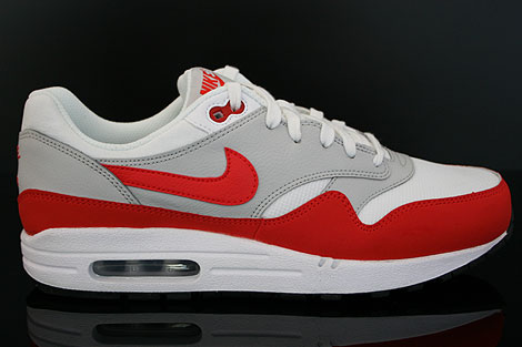Nike Air Max 1 GS Weiss Grau Rot Schwarz