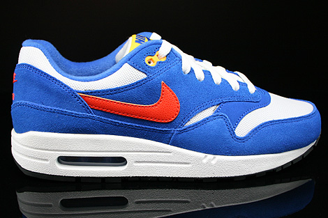 Nike Air Max 1 GS White Team Orange Hyper Cobalt Black