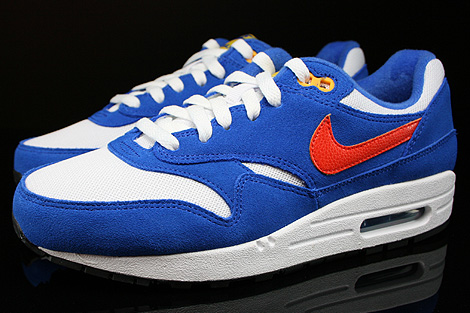 Nike Air Max 1 GS White Team Orange Hyper Cobalt Black Profile