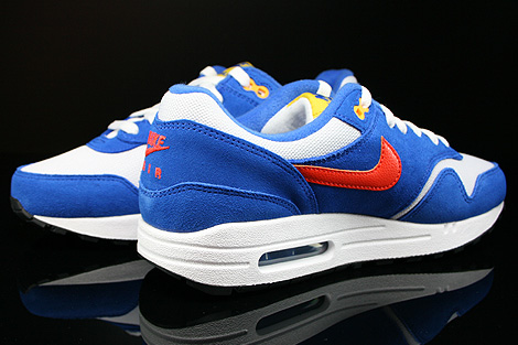 Nike Air Max 1 GS White Team Orange Hyper Cobalt Black Inside