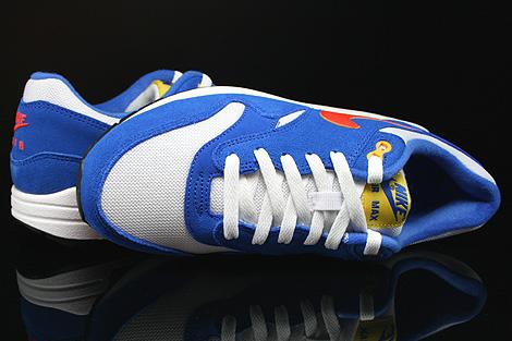 Nike Air Max 1 GS Weiss Orange Blau Schwarz Oberschuh