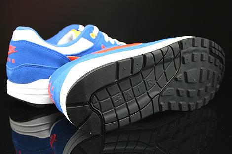 Nike Air Max 1 GS Weiss Orange Blau Schwarz Laufsohle
