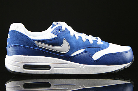 Corchete Novia Constituir  Nike Air Max 1 GS White Wolf Grey Gym Blue Black 555766-111 - Purchaze