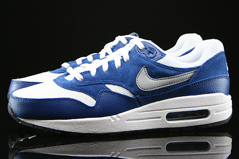 Nike Air Max 1 GS White Wolf Grey Gym Blue Black Profile