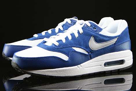 Nike Air Max 1 GS White Wolf Grey Gym Blue Black Sidedetails