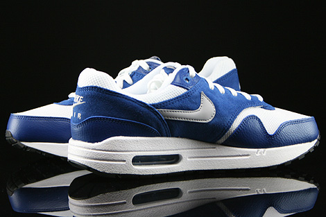 Nike Air Max 1 GS White Wolf Grey Gym Blue Black Inside