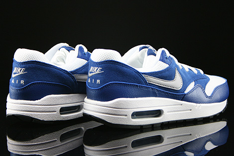 Nike Air Max 1 GS White Wolf Grey Gym Blue Black Back view