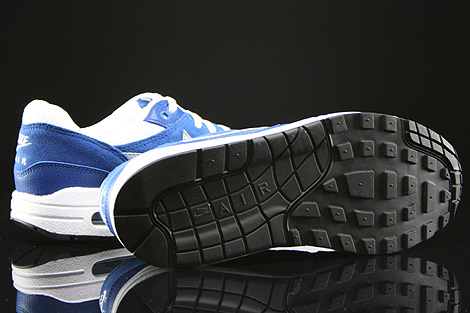 Nike Air Max 1 GS White Wolf Grey Gym Blue Black Outsole
