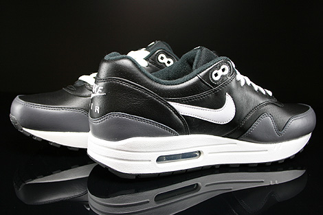 Nike Air Max 1 Leather Black White Dark Grey Inside