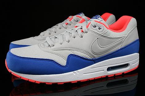 Nike Air Max 1 Essential Light Ash Grey Hyper Blue Profile