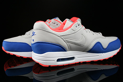 pretty nice 5231a b4be2 ... Nike Air Max 1 Essential Hellgrau Blau Orange Weiss Innenseite ...