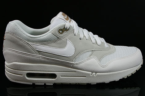 nike air max 1 zwart light bone