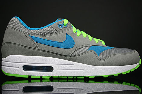 Nike Air Max 1 Light Charcoal Blue Electric Green