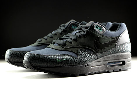 Nike Air Max 1 Premium Black Black Bonsai Sidedetails