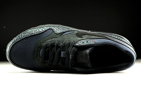 Nike Air Max 1 Premium Black Black Bonsai Over view