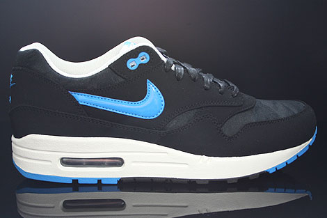 Nike Air Max 1 Premium Black Blue Hero Sail 512033 041
