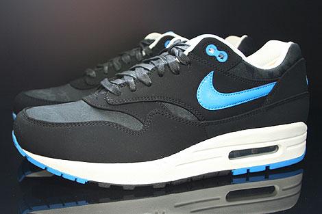 size 40 7261c 2a825 ... Nike Air Max 1 Premium Black Blue Hero Sail 512033-041 - Purchaze ...