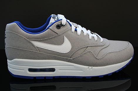 Nike Air Max 1 Premium Grau Weiss Blau Schwarz