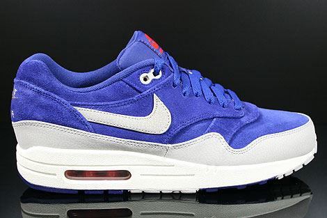Nike Air Max 1 Premium Deep Royal Blue Granite Sail Team