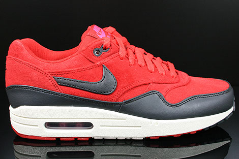 5ab225f9f8d32 Nike Air Max 1 Premium Gym Red Anthracite Sail Rave Pink 512033-606 ...