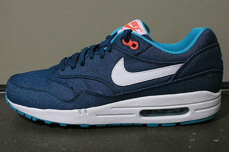 Nike Air Max 1 Premium Mid Turquoise White Total Crimson