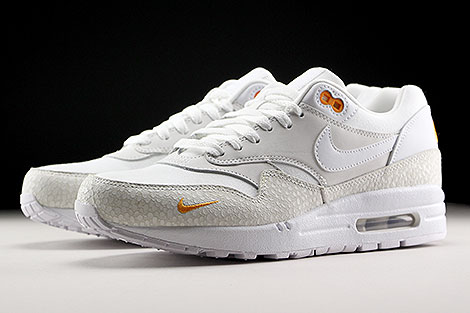 Nike Air Max 1 Premium White White Kumquat Sidedetails