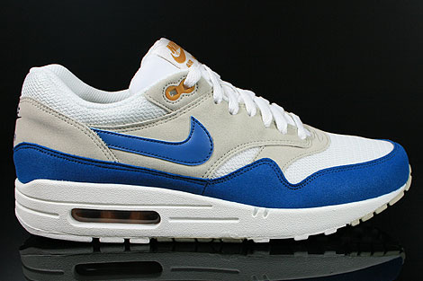 Nike Air Max 1 Summit White Shaded Blue Sandtrap