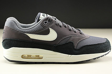 Nike Air Max 1 Thunder Grey Sail Black