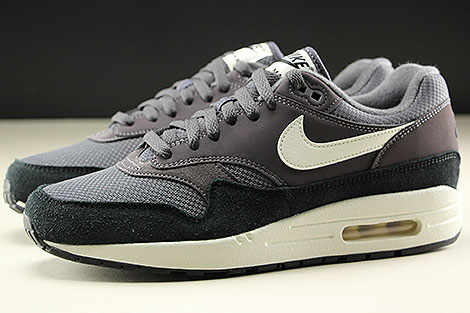 Nike Air Max 1 Thunder Grey Sail Black Seitenansicht