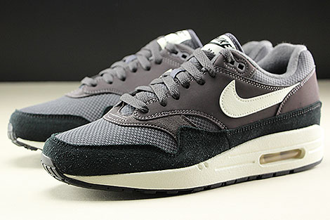 Nike Air Max 1 Thunder Grey Sail Black Seitendetail