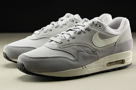 Nike Air Max 1 Vast Grey Sail Wolf Grey Seitendetail