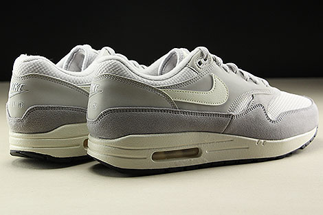 Nike Air Max 1 Vast Grey Sail Wolf Grey Back view