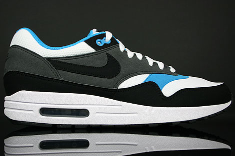 Nike Air Max 1 White Black Anthracite Neptun Blue