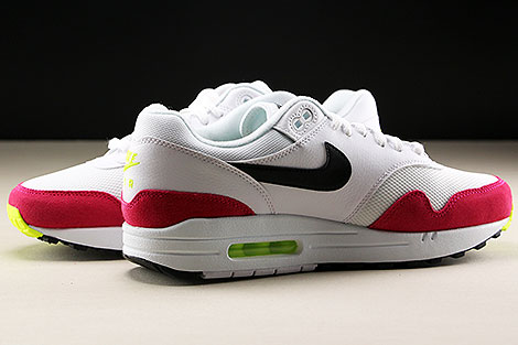 Nike Air Max 1 White Black Volt Rush Pink Inside