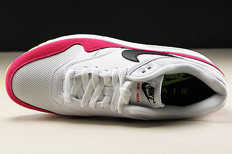 Nike Air Max 1 White Black Volt Rush Pink Over view
